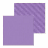 Doodlebug Design - Petite Prints Collection - 12 x 12 Double Sided Paper - Dot and Stripe - Orchid