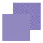 Doodlebug Design - Petite Prints Collection - 12 x 12 Double Sided Paper - Dot and Stripe - Lilac