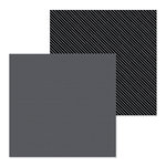 Doodlebug Design - Petite Prints Collection - 12 x 12 Double Sided Paper - Dot and Stripe - Beetle Black