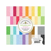 Doodlebug Design - Petite Prints Collection - 6 x 6 Paper Pad - Floral and Graph - Rainbow
