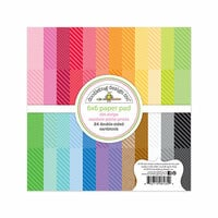 Doodlebug Design - Petite Prints Collection - 6 x 6 Paper Pad - Dot and Stripe - Rainbow