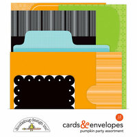 Doodlebug Design - Pumpkin Party Collection - Halloween - Create-A-Card - Cards and Envelopes - Assortment