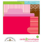 Doodlebug Design - Christmas Town Collection - Create-A-Card - Cards and Envelopes - Assortment