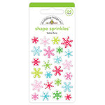 Doodlebug Design - Christmas Town Collection - Sprinkles - Self Adhesive Enamel Shapes - Festive Flurry