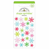 Doodlebug Design - Christmas Town Collection - Sprinkles - Self Adhesive Enamel Shapes - Festive Flurry