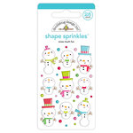 Doodlebug Design - Christmas Town Collection - Sprinkles - Self Adhesive Enamel Shapes - Snow Much Fun