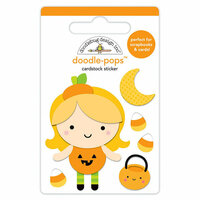Doodlebug Design - Pumpkin Party Collection - Halloween - Doodle-Pops - 3 Dimensional Cardstock Stickers - Little Pumpkin