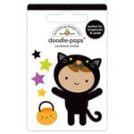 Doodlebug Design - Pumpkin Party Collection - Halloween - Doodle-Pops - 3 Dimensional Cardstock Stickers - Cute Kitty