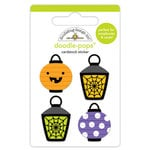 Doodlebug Design - Pumpkin Party Collection - Halloween - Doodle-Pops - 3 Dimensional Cardstock Stickers - Party Lights
