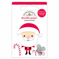 Doodlebug Design - Christmas Town Collection - Doodle-Pops - 3 Dimensional Cardstock Stickers - Sweet Santa