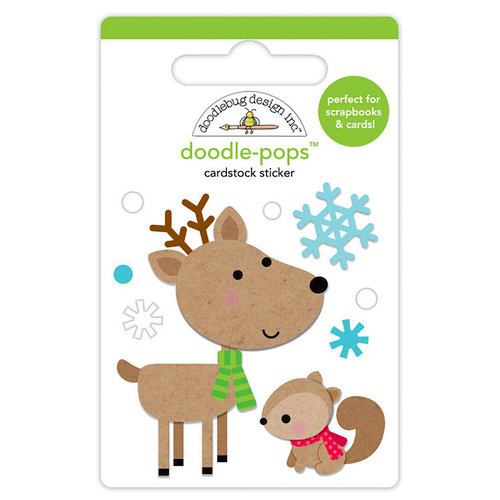 Doodlebug Design - Christmas Town Collection - Doodle-Pops - 3 Dimensional Cardstock Stickers - Dear Friends