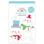 Doodlebug Design - Christmas Town Collection - Doodle-Pops - 3 Dimensional Cardstock Stickers - Snow Buddies