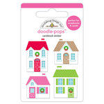 Doodlebug Design - Christmas Town Collection - Doodle-Pops - 3 Dimensional Cardstock Stickers - Christmas Town