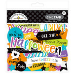 Doodlebug Design - Pumpkin Party Collection - Halloween - Chit Chat - Die Cut Cardstock Pieces