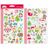 Doodlebug Design - Christmas Town Collection - Cardstock Stickers - Mini Icons