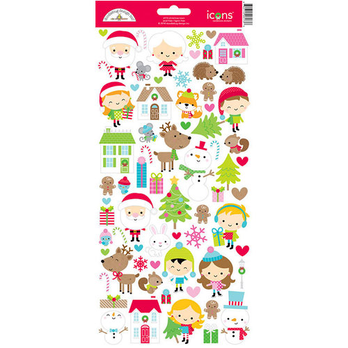 Doodlebug Design - Christmas Town Collection - Cardstock Stickers - Icons