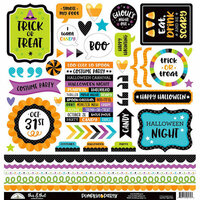 Doodlebug Design - Pumpkin Party Collection - Halloween - 12 x 12 Cardstock Stickers - This and That