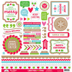 Doodlebug Design - Christmas Town Collection - 12 x 12 Cardstock Stickers - This and That