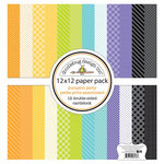 Doodlebug Design - Pumpkin Party Collection - Halloween - 12 x 12 Paper Pack - Petite Print
