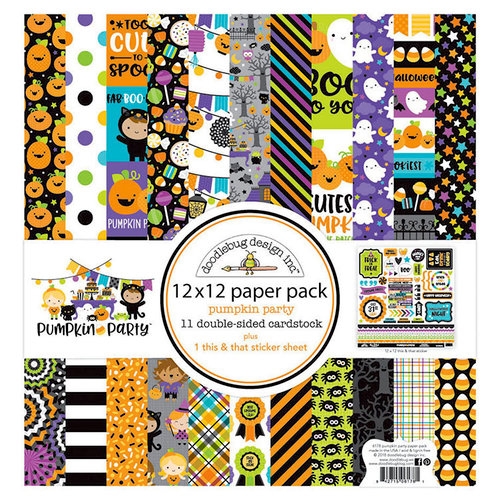 Doodlebug Design - Pumpkin Party Collection - Halloween - 12 x 12 Paper Pack