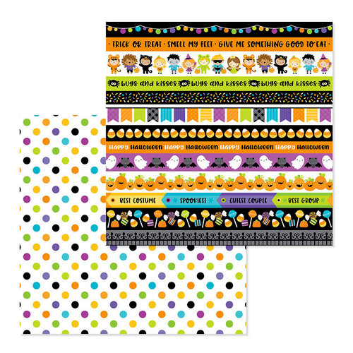 Doodlebug Design - Pumpkin Party Collection - Halloween - 12 x 12 Double Sided Paper - Halloween Ball