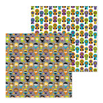 Doodlebug Design - Pumpkin Party Collection - Halloween - 12 x 12 Double Sided Paper - Costume Party