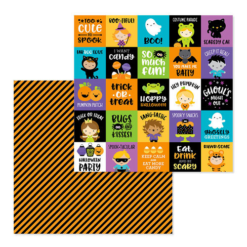 Doodlebug Design - Pumpkin Party Collection - Halloween - 12 x 12 Double Sided Paper - Fun House
