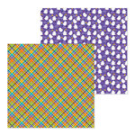 Doodlebug Design - Pumpkin Party Collection - Halloween - 12 x 12 Double Sided Paper - Party Plaid
