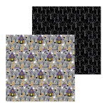 Doodlebug Design - Pumpkin Party Collection - Halloween - 12 x 12 Double Sided Paper - Midnight Masquerade