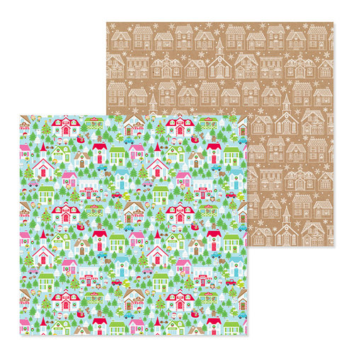 Doodlebug Design - Christmas Town Collection - 12 x 12 Double Sided Paper - Christmas Town