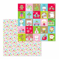 Doodlebug Design - Christmas Town Collection - 12 x 12 Double Sided Paper - Festive Flurry