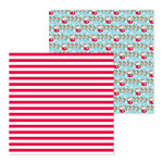 Doodlebug Design - Christmas Town Collection - 12 x 12 Double Sided Paper - Candy Cane Lane