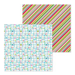Doodlebug Design - Christmas Town Collection - 12 x 12 Double Sided Paper - Snow Much Fun