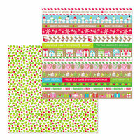 Doodlebug Design - Christmas Town Collection - 12 x 12 Double Sided Paper - Berry Christmas