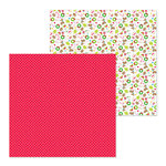 Doodlebug Design - Christmas Town Collection - 12 x 12 Double Sided Paper - Merry Hearts