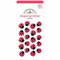 Doodlebug Design - Lots O' Luck Collection - Sprinkles - Self Adhesive Enamel Shapes - Lucky Ladies