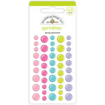 Doodlebug Design - Simply Spring Collection - Sprinkles - Self Adhesive Enamel Shapes - Spring