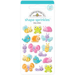 Doodlebug Design - Simply Spring Collection - Sprinkles - Self Adhesive Enamel Shapes - Little Critters