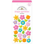 Doodlebug Design - Simply Spring Collection - Sprinkles - Self Adhesive Enamel Shapes - May Flowers