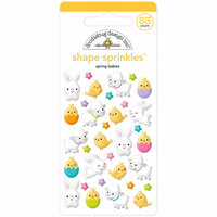 Doodlebug Design - Hoppy Easter Collection - Sprinkles - Self Adhesive Enamel Shapes - Spring Babies