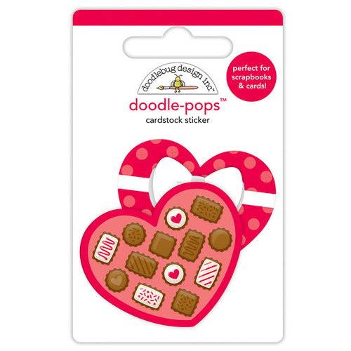 Doodlebug Design - French Kiss Collection - Doodle-Pops - 3 Dimensional Cardstock Stickers - Sweetheart