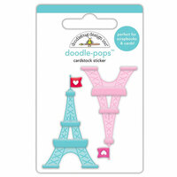 Doodlebug Design - French Kiss Collection - Doodle-Pops - 3 Dimensional Cardstock Stickers - Tower of Love