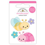 Doodlebug Design - Simply Spring Collection - Doodle-Pops - 3 Dimensional Cardstock Stickers - Bloomin' Bugs