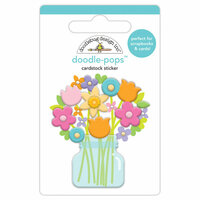 Doodlebug Design - Simply Spring Collection - Doodle-Pops - 3 Dimensional Cardstock Stickers - Bright Bunch