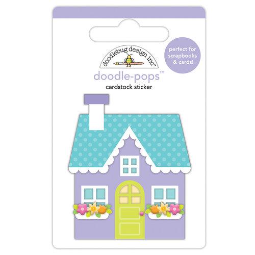 Doodlebug Design - Simply Spring Collection - Doodle-Pops - 3 Dimensional Cardstock Stickers - Cozy Cottage