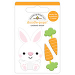 Doodlebug Design - Hoppy Easter Collection - Doodle-Pops - 3 Dimensional Cardstock Stickers - Baby Bunny