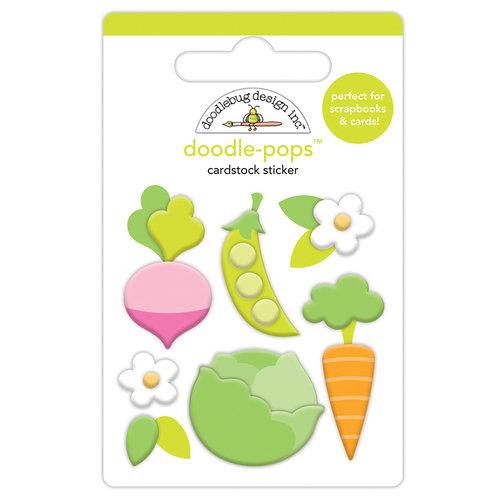 Doodlebug Design - Hoppy Easter Collection - Doodle-Pops - 3 Dimensional Cardstock Stickers - Little Garden