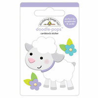 Doodlebug Design - Hoppy Easter Collection - Doodle-Pops - 3 Dimensional Cardstock Stickers - Lamby