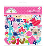 Doodlebug Design - French Kiss Collection - Odds and Ends - Die Cut Cardstock Pieces