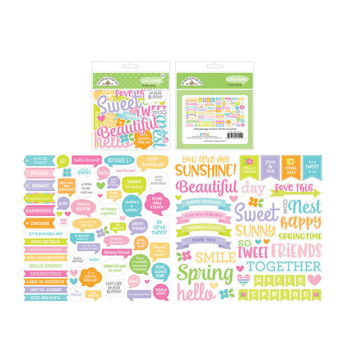 Doodlebug Design - Simply Spring Collection - Chit Chat - Die Cut Cardstock Pieces